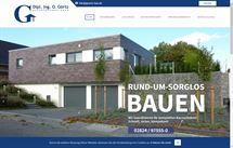 Webprojekt für Dipl. Ing. O. Görtz Baubetreuung GmbH aus Bedburg-Hau
